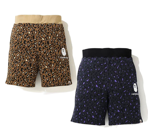 A BATHING APE LEOPARD SHORTS