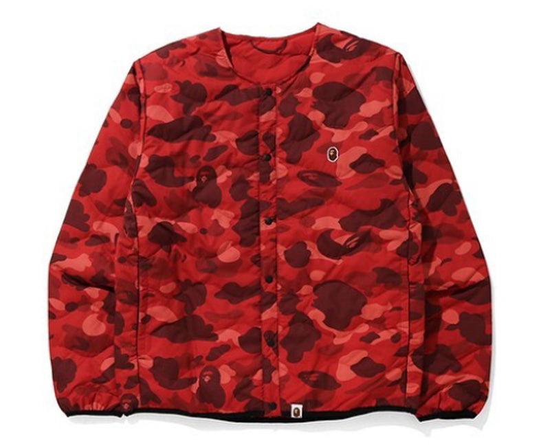 A BATHING APE COLOR CAMO LIGHT WEIGHT DOWN JACKET