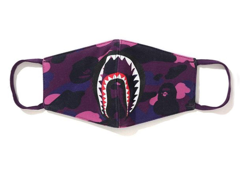 A BATHING APE COLOR CAMO SHARK MASK