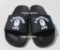 A BATHING APE COLLEGE SLIDE SANDALS - happyjagabee store