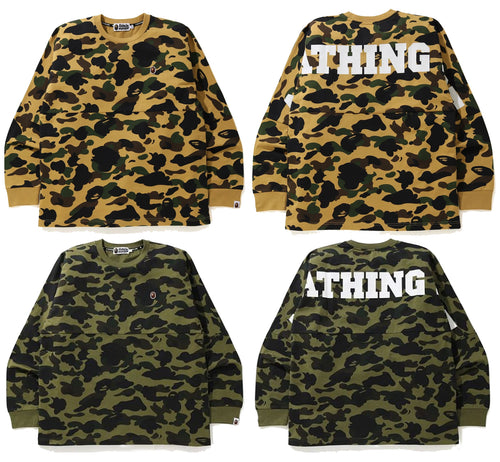A BATHING APE 1ST CAMO RELAXED L/S TEE