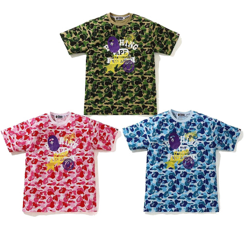 A BATHING APE ABC CAMO MULTI PRINT TEE