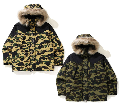 A BATHING APE 1ST CAMO SNOWBOARD DOWN JACKET