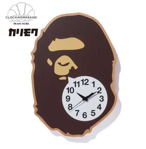 A BATHING APE BAPE x CLOCKWORKSAND X KARIMOKU APE HEAD WALL CLOCK