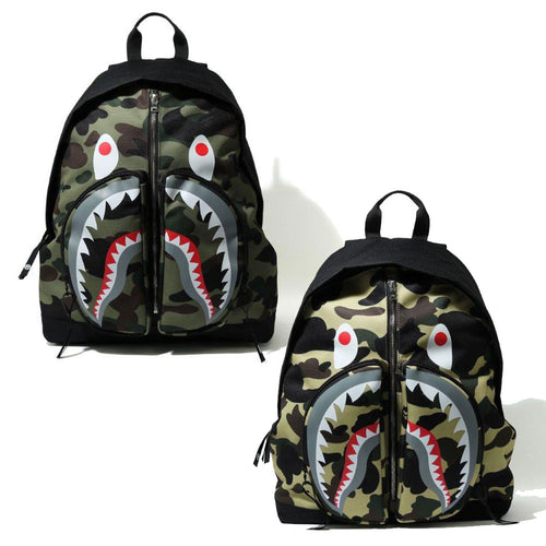 A BATHING APE 1ST CAMO SHARK DAY PACK