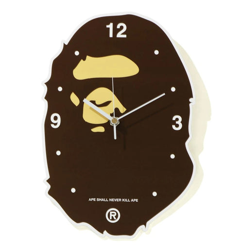 A BATHING APE APE HEAD WALL CLOCK