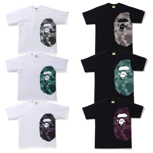 A BATHING APE COLOR CAMO SIDE BIG APE HEAD RELAX TEE