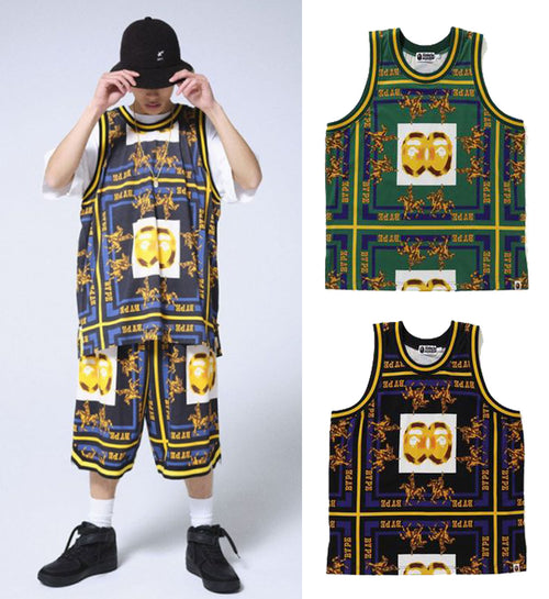 A BATHING APE DOUBLE APE HEAD BASKETBALL TANK TOP