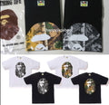 A BATHING APE BAPE FOREST CAMO BIG APE HEAD TEE - happyjagabee store