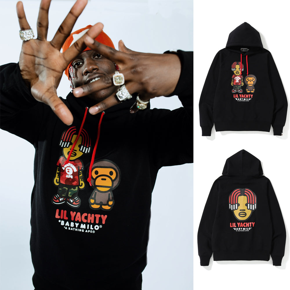 e819eaea A BATHING APE BABY MILO x LIL YACHTY PULLOVER HOODIE - happyjagabee store  ...