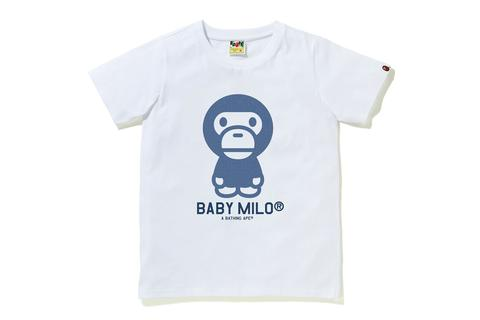 A BATHING APE Ladies' DENIM BABY MILO TEE