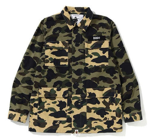 A BATHING APE 1ST CAMO MILITARY SHIRT - happyjagabee store
