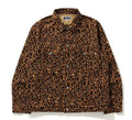 A BATHING APE LEOPARD TRACKER JACKET