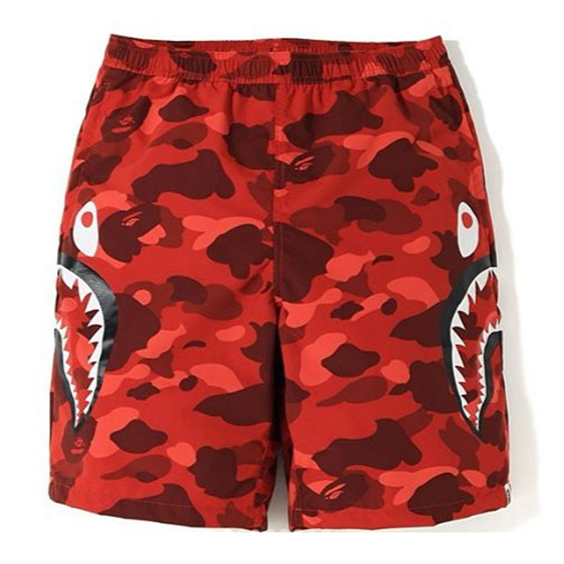 Sale! A BATHING APE COLOR CAMO SIDE SHARK BEACH PANTS - happyjagabee store