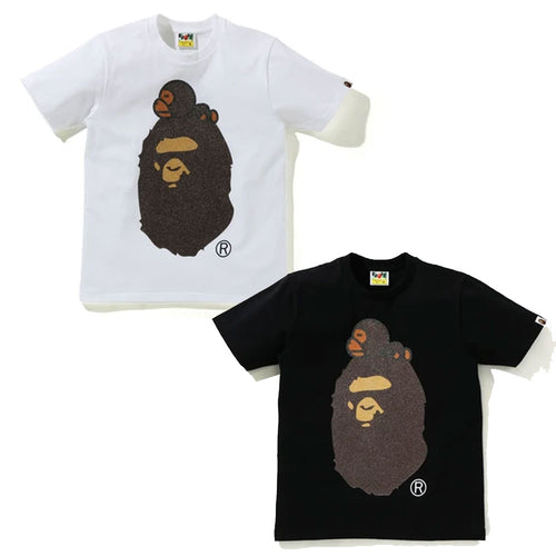 A BATHING APE Ladies' GLASS BEADS MILO ON BIG APE TEE