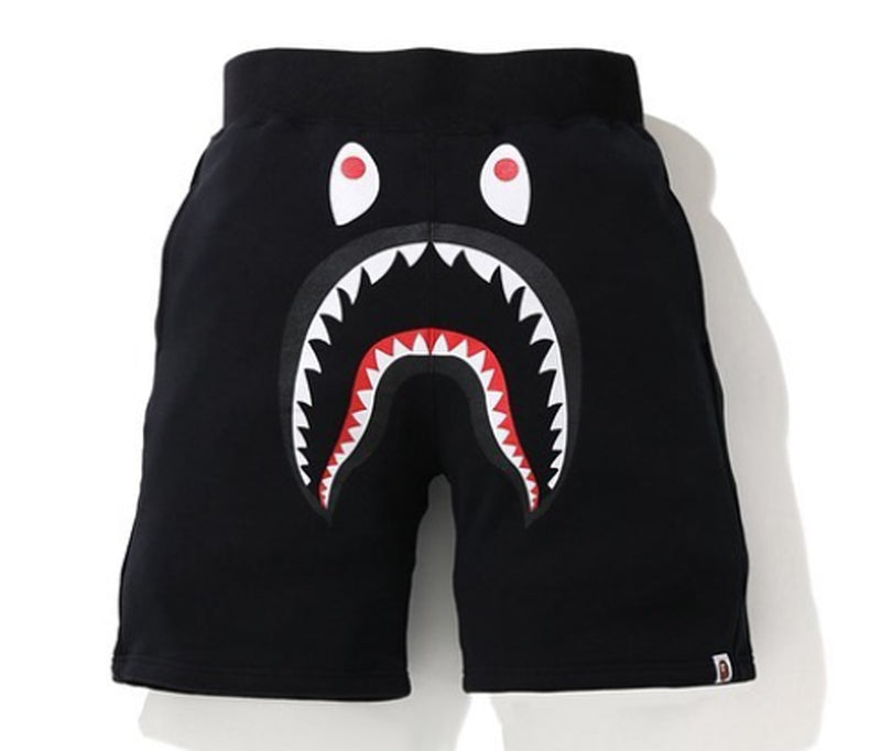 A BATHING APE SHARK SWEAT SHORTS