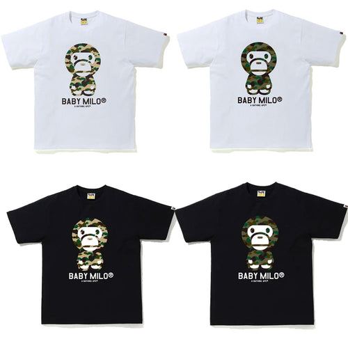 A BATHING APE Ladies' 1ST CAMO BABY MILO TEE