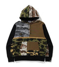 A BATHING APE CRAZY CAMO RELAXED PULLOVER HOODIE