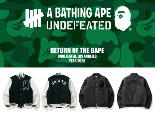 A BATHING APE BAPE × UNDEFEATED BAPE x UNDFTD VARSITY JACKET