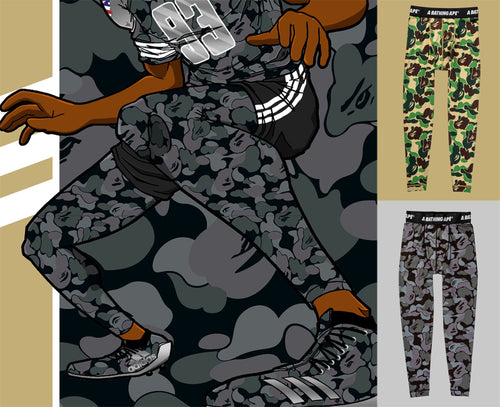 Sale! A BATHING APE adidas & BAPE FOOTBALL COLLECTION TIGHTS BAPE SB - happyjagabee store