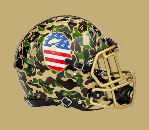 Sale! A BATHING APE adidas & BAPE FOOTBALL COLLECTION RIDDELL X BAPE HELMET - happyjagabee store