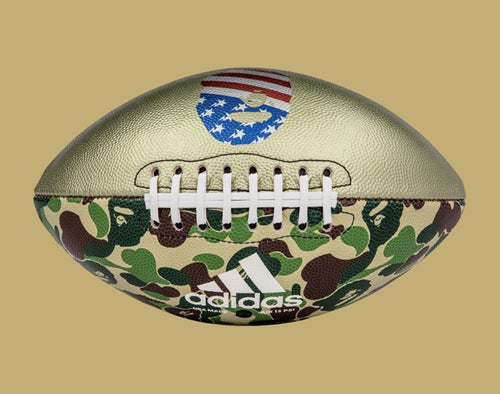 A BATHING APE adidas & BAPE FOOTBALL COLLECTION RIFLE FOOTBALL - happyjagabee store