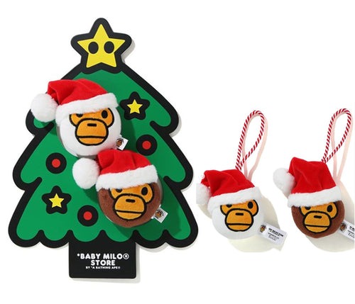 A BATHING APE BABY MILO STORE CHRISTMAS PLUSH TOY DECO SET