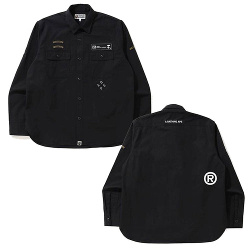 A BATHING APE RELAXED SECURITY SHIRT