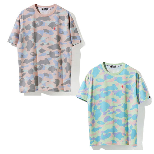 A BATHING APE Ladies' PASTEL MULTI CAMO OVERSIZED TEE