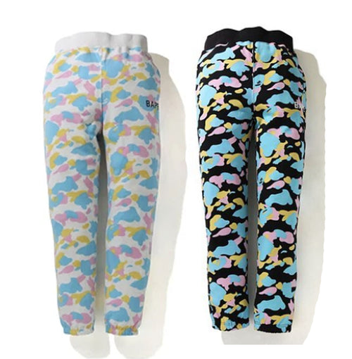 A BATHING APE NEW MULTI CAMO SWEAT PANTS