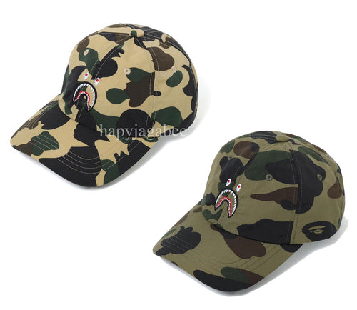 69c14f6a504e A BATHING APE 1ST CAMO SHARK PANEL CAP - happyjagabee store