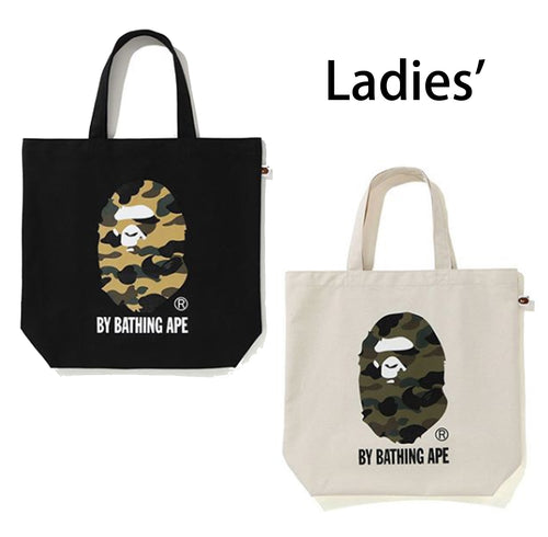 A BATHING APE LADIES' 1ST CAMO APE HEAD TOTE BAG - happyjagabee store