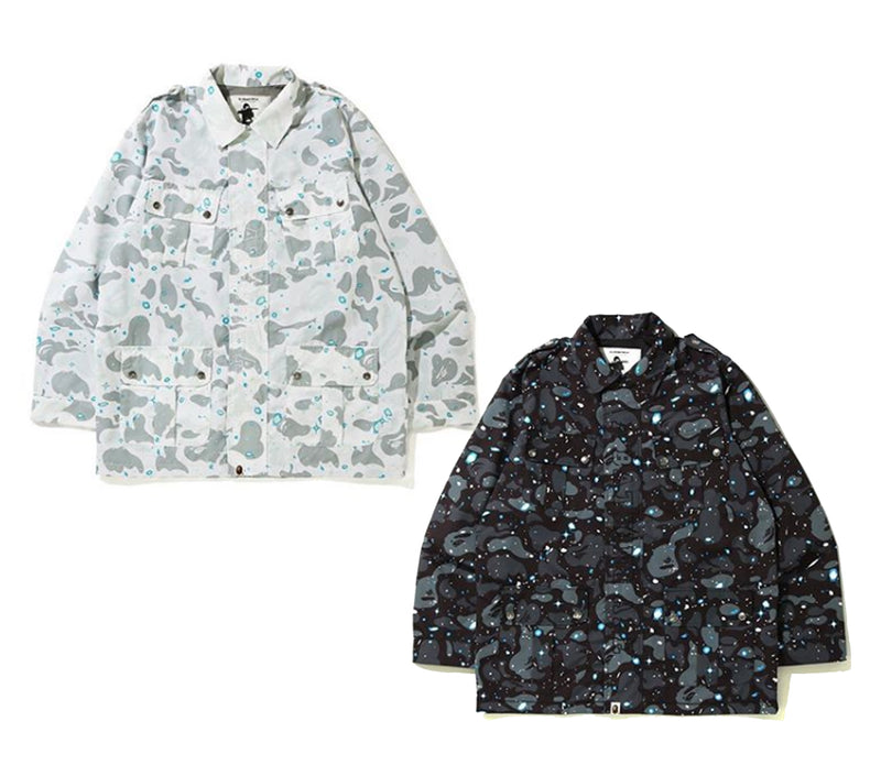 A BATHING APE SPACE CAMO MILITARY JACKET - happyjagabee store