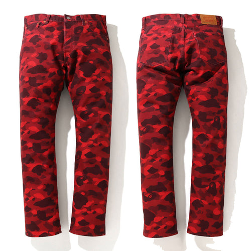 A BATHING APE BAPE x Levi's COLOR CAMO 501 '93 MODEL Red EU / JAPAN LIMITED
