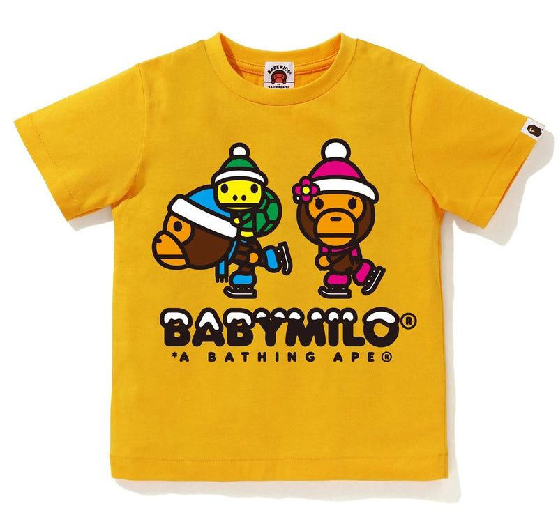A BATHING APE BAPE KIDS MILO & LISA WINTER TEE