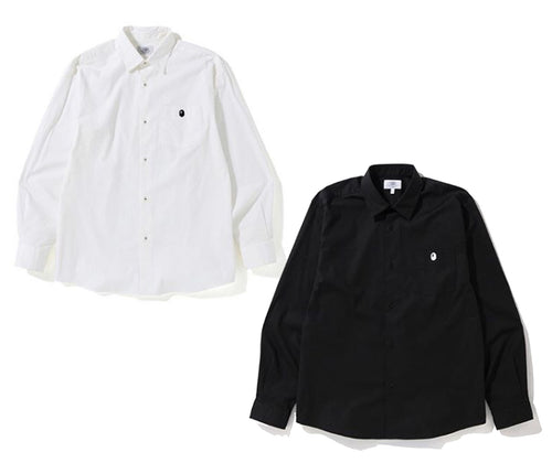 A BATHING APE ONE POINT STRETCH SHIRT - happyjagabee store