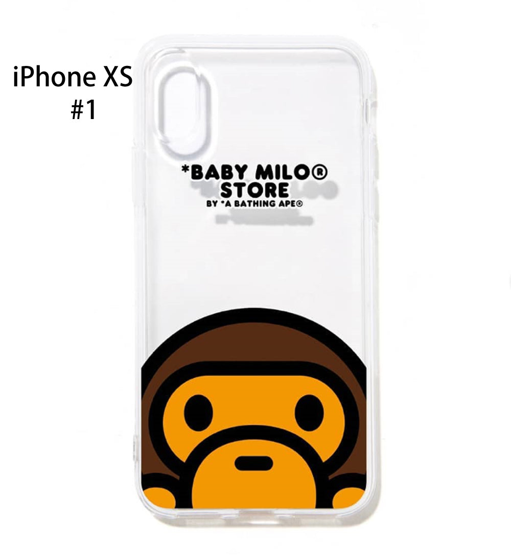 new concept 234d3 fa515 A BATHING APE BABY MILO SOFT CLEAR CASE for iPhone Xs / Xs Max