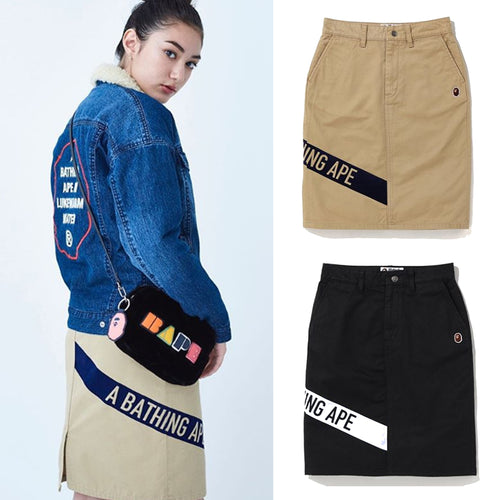 A BATHING APE LADIES' A BATHING APE CHINO SKIRT - happyjagabee store