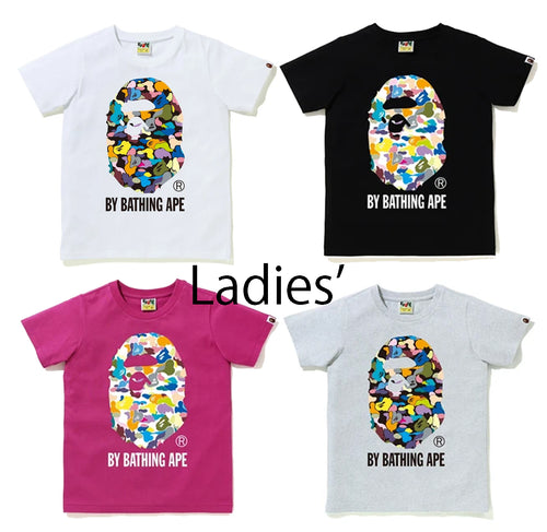 A BATHING APE Ladies' MULTI CAMO BY BATHING APE TEE