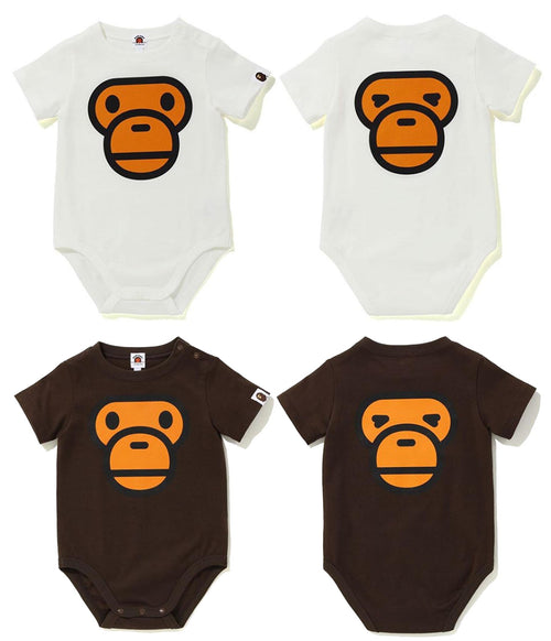 A BATHING APE KIDS BABY MILO FACE BODY SUIT - happyjagabee store