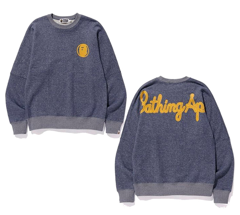 A BATHING APE CHAMPION BIG LOGO WIDE CREWNECK - happyjagabee store