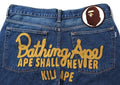 A BATHING APE 2008 TYPE-05 CHAMPION DAMAGED DENIM PANTS - happyjagabee store