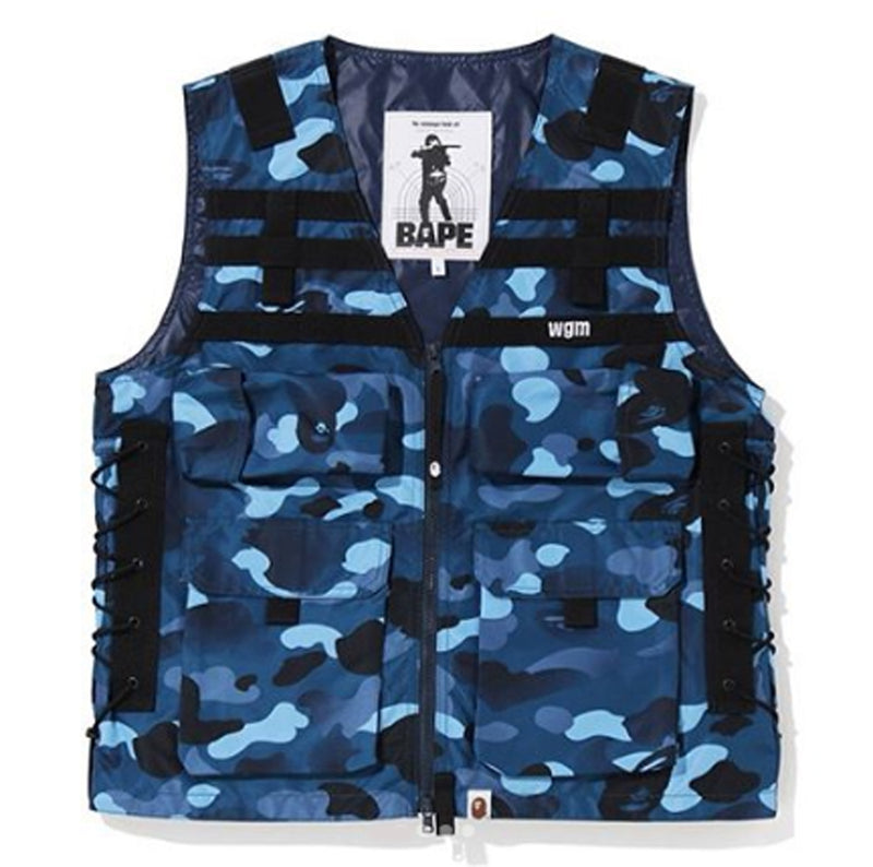 A BATHING APE GRADATION CAMO LACE UP VEST