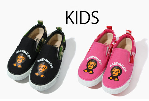 A BATHING APE BAPE KIDS ABC CAMO BABY MILO SLIP ON