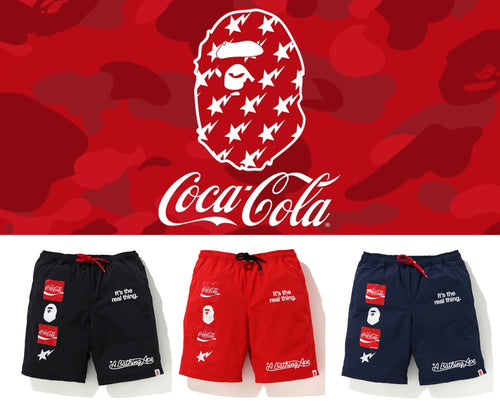A BATHING APE BAPE × COCA-COLA SHORTS