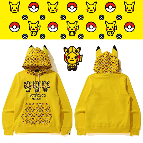 A BATHING APE Pokemon COLLECTION POKEMON PULLOVER HOODIE