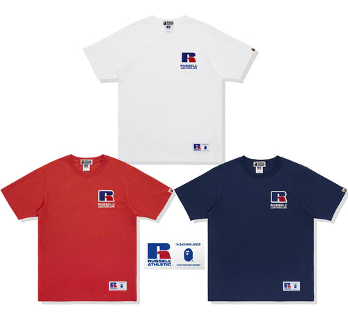 A BATHING APE × RUSSELL ATHLETIC BAPE x RUSSELL COLLEGE TEE