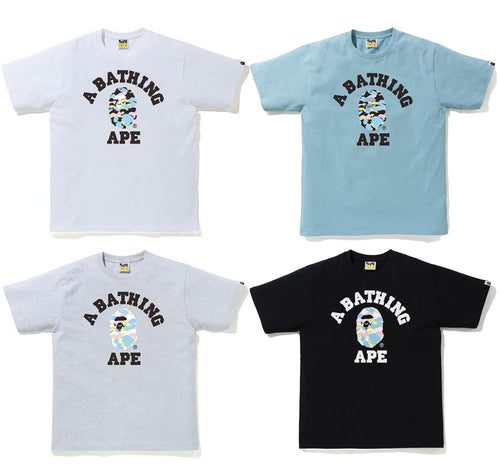 A BATHING APE NEW MULTI CAMO COLLEGE TEE