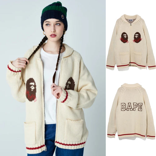 A BATHING APE Ladies' COWICHAN KNIT