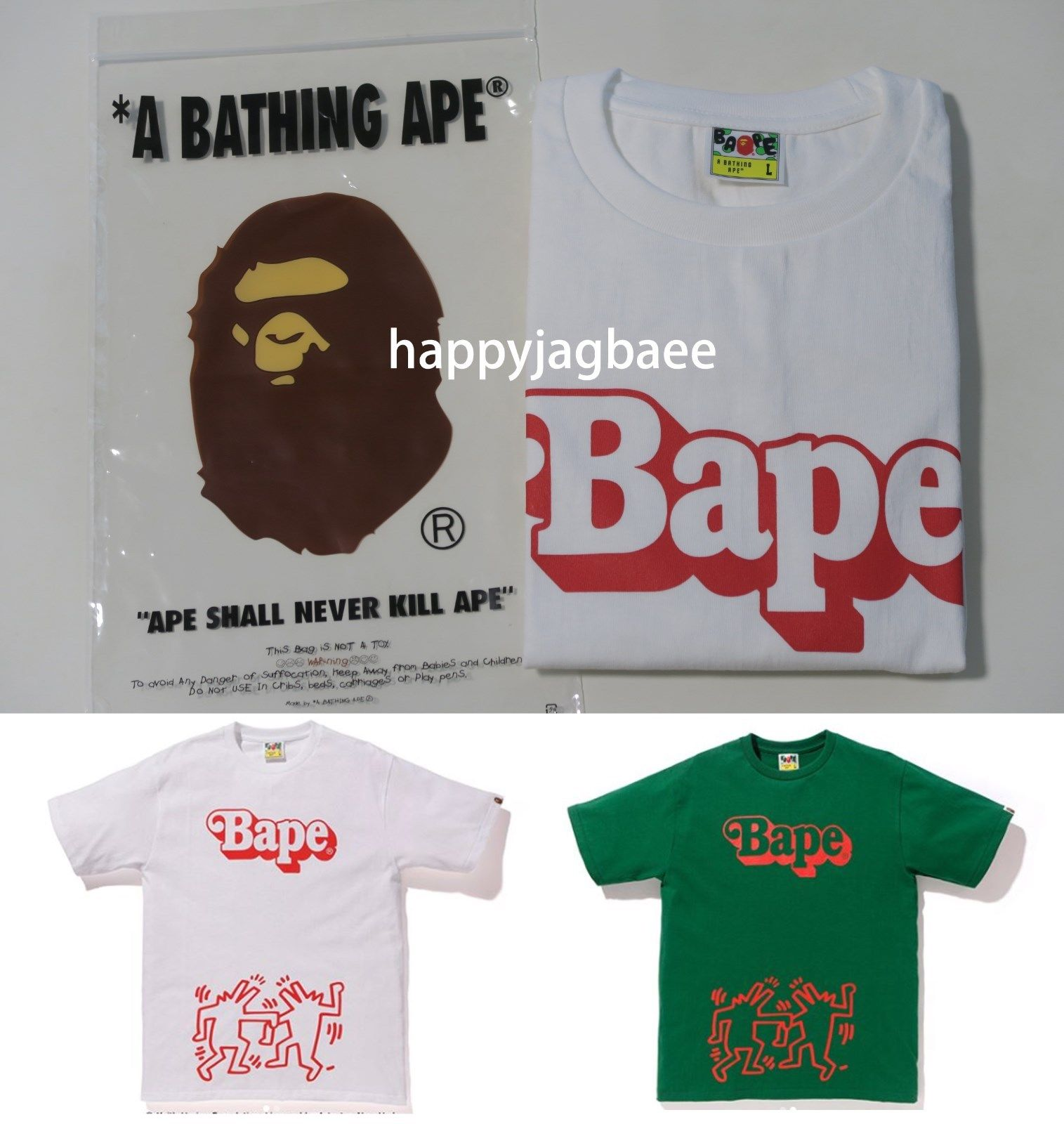 fc828075 A BATHING APE x KEITH HARING TEE #4 – happyjagabee store